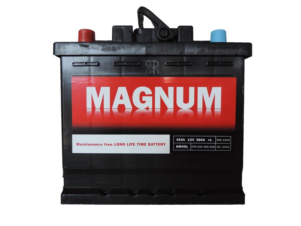 akumulator, 12v, 45ah, 360a, levo+, magnum