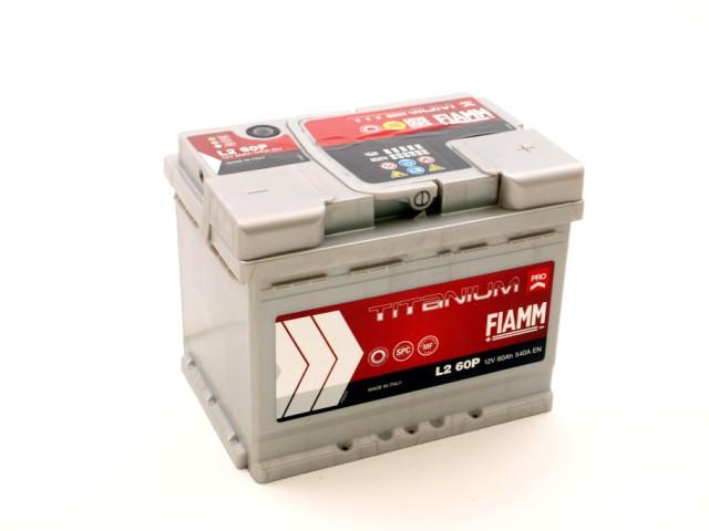 akumulator, 12v, 60ah, 540a, desno, fiamm, titanium, pro, l260p, 7905147