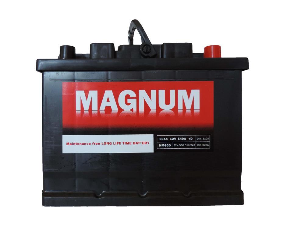 AKUMULATOR, 12V-60AH-540A, DESNO+, MAGNUM, 01185,