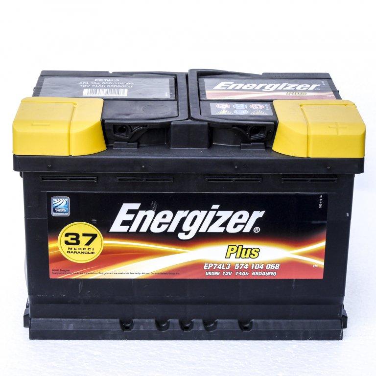 AKUMULATOR, 12V-74AH-680A, DESNO+, ENERGIZER PLUS, EP74-L3,