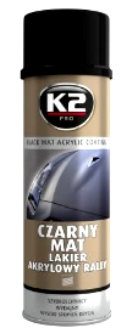 K2 BLACK MAT ACRYLIC SPRAY, L340