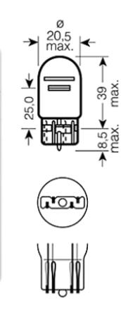 Sijalica ubodna 12V/21W/5W Insignia  Neo, N580